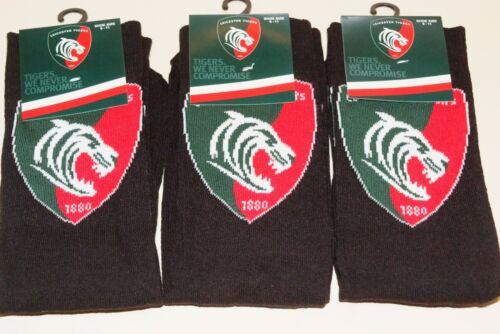 Da Uomo Leicester Tigers Rugby Club Badge Stemma Team Calzini Calzini Abito UK 6-11