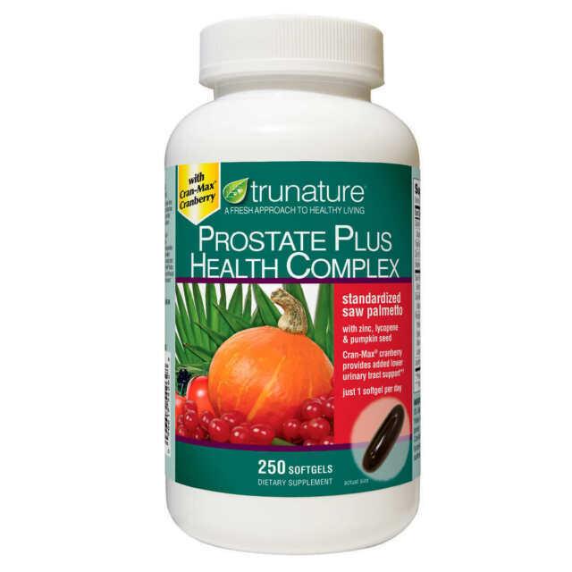 trunature Prostate Plus Health Complex 250 Softgels,Saw Palmetto w/ Zink,Lycopen