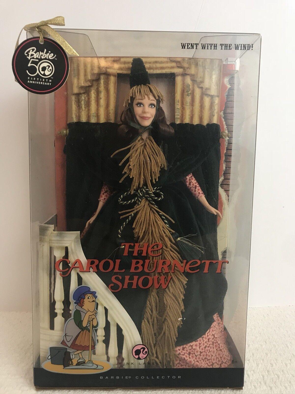 Barbie fue el show Carol Burnet con el viento 50th anniversary coleccionista
