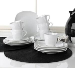 18 tlg kaffeeservice kaffeegeschirr geschirrset 6 personen porzellan wei bellis ebay. Black Bedroom Furniture Sets. Home Design Ideas