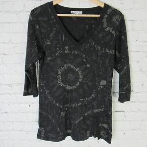 Tilley-Endurables-Top-Womens-Medium-Black-V-Neck-Shirt