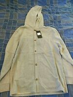 Five Four Clothing Everson Button Up Hoodie Jacket Size Medium Heather Gray