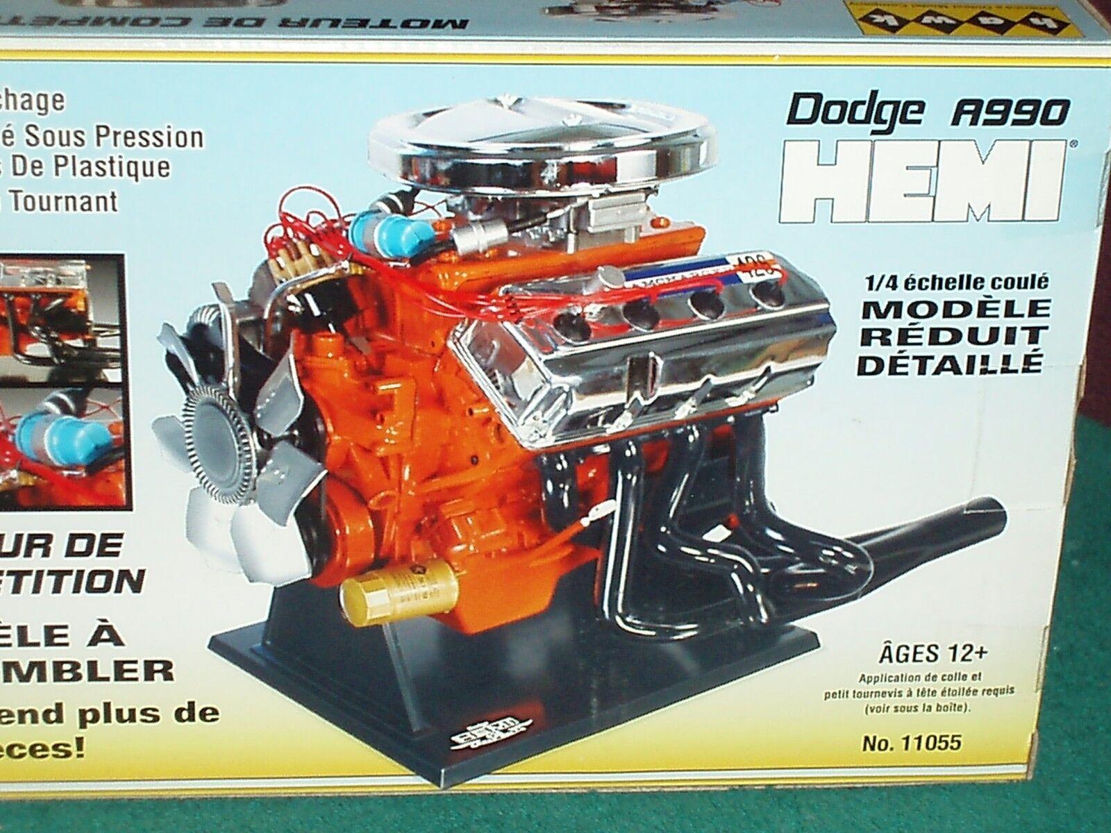 TESTORS HAWK MOPAR DODGE PLYMOUTH HEMI ENGINE MODEL KIT 1 4 DIECAST