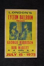 Bob Marley Tour Poster 1975 George Harrison London Lyceum Ba