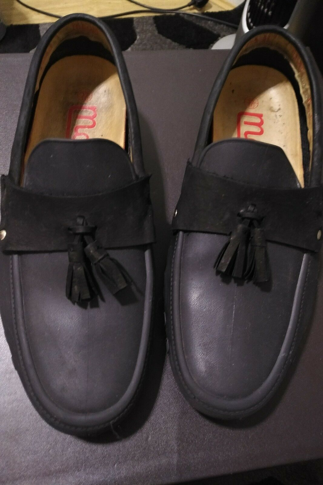 Gentleman/Lady mens black Various tassle loafers use Used in durability Various black latest designs 2ce3eb
