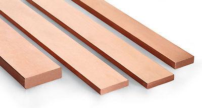 CHEAPEST - Copper Flat Bar various sizes & Lengths upto 1000mm long