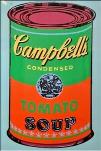 andy warhol oil painting on canvas pop art campbell 39 s tomato soup can 24x36 ebay. Black Bedroom Furniture Sets. Home Design Ideas