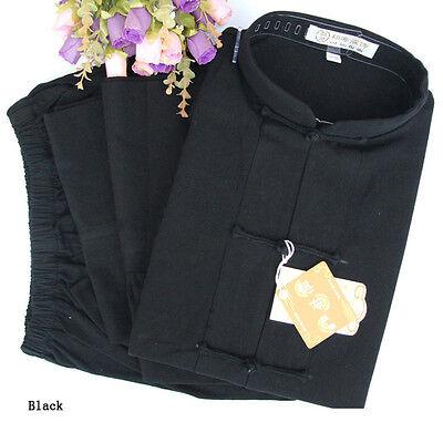 Kung fu Taichi Wushu Martial Arts Coarse cloth uniform clothes Cotton Suit black