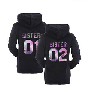 5XL Wunschdatum Hoodie Mit Brother Sister Motiv Partner Look Pullover  XS