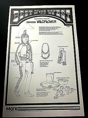"P-2214 Copy Marx Johnny West BOTW /""Princess Wildflower/"" EQUIPMENT MANUAL"