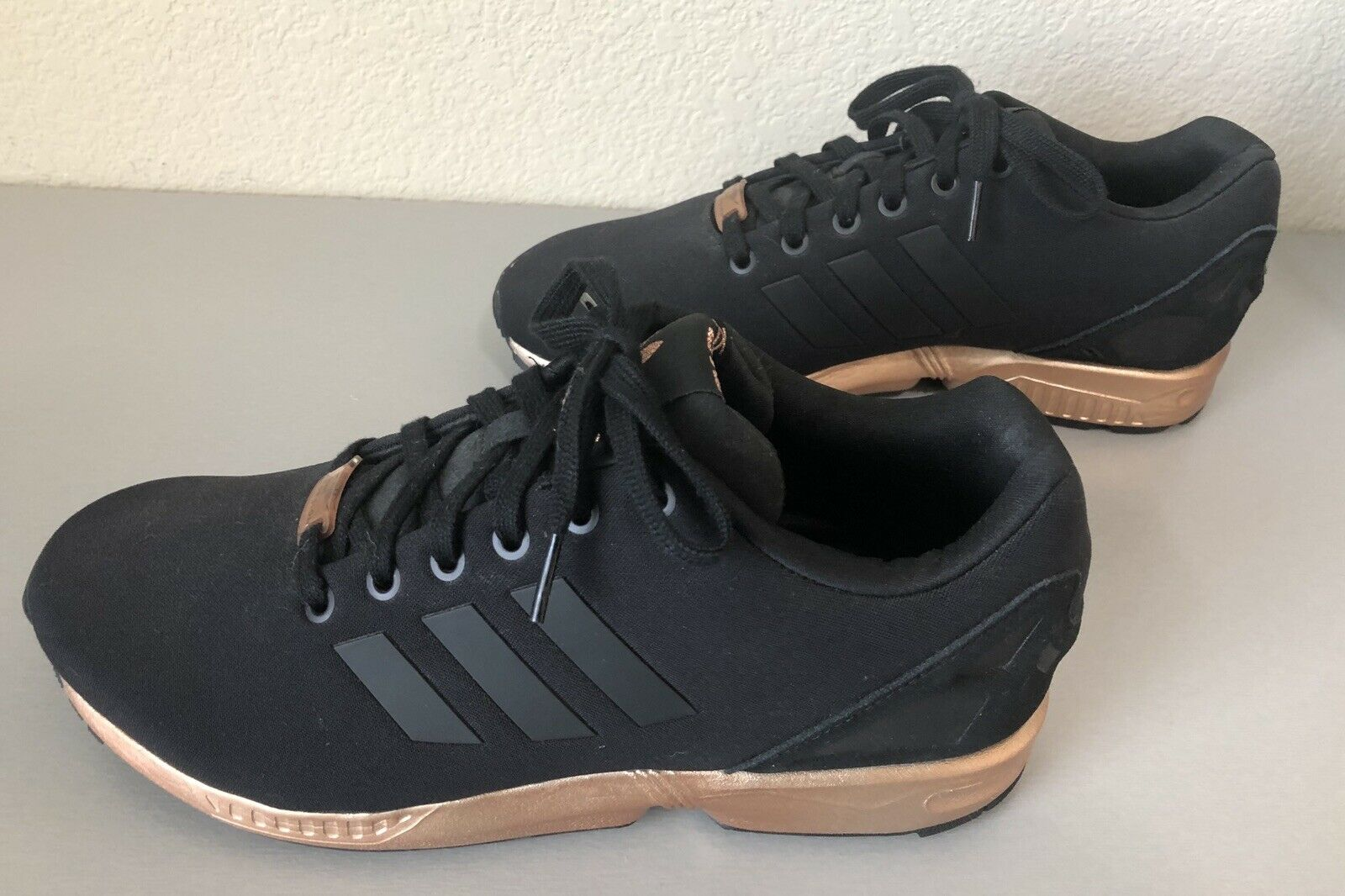super popular 4440c 6633f WOMENS ADIDAS ZX FLUX CORE BLACK COPPER ROSE GOLD BRONZE S78977 LIMITED  EDITION
