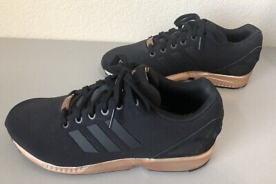 WOMENS ADIDAS ZX FLUX CORE BLACK COPPER ROSE GOLD BRONZE S78977 LIMITED  EDITION | eBay