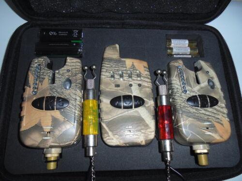 CAMOUFLAGE Cadeau Gratuit lumineux chaînes 2 x TMC Sans Fil Morsure Alarmes Récepteur