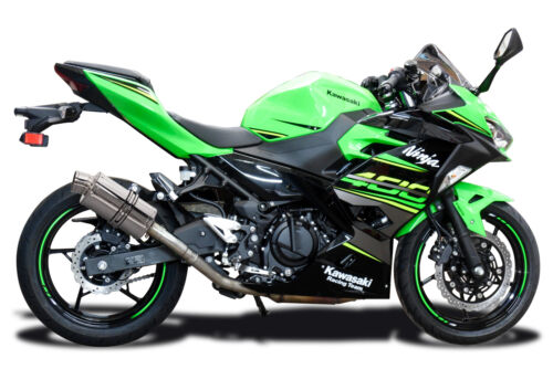 "Kawasaki Ninja 400 Z400 Delkevic Slip On 9/"" Stainless Oval Muffler Exhaust 18-19"
