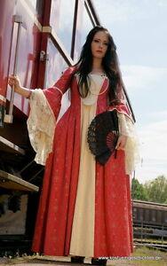 Gutherzig Rokoko Kleid Barock Kostüm Baumwoll Brokat Hochwertig Unikat Maßgeschneidert KöStlich Im Geschmack