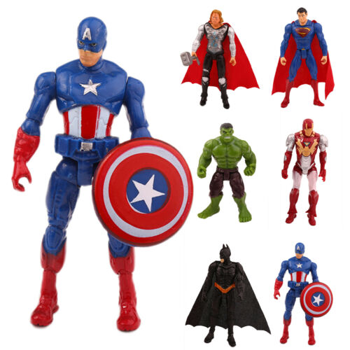 The Avengers Marvel Actionfigur Figuren Spielzeug Spiderman Captain America Hulk