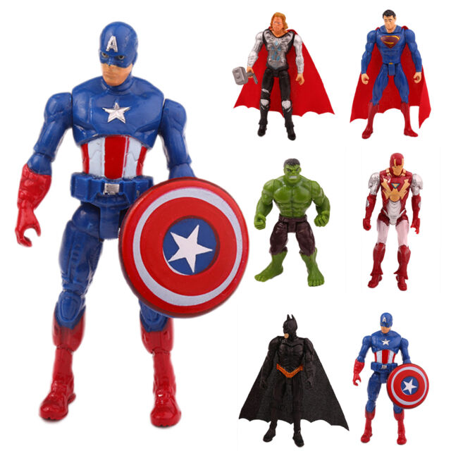 Lot 6pcs The Avengers Super Hero Movable Comic Action Figures Kids Xmas Toy Gift