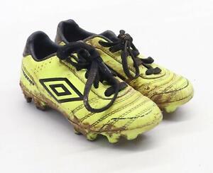 Umbro-Garcons-Taille-UK-10-jaune-fluo-Chaussures-de-Football