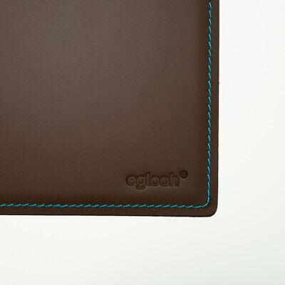 cm 65x45 Schreibtischunterlage Leder Schwarz Blaue Nähten Made in Italy