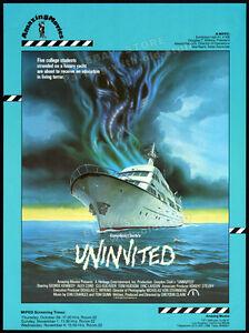 UNINVITED__Orig. 1987 Trade print AD / poster__ALEX CORD_CLARE CAREY_1988_horror