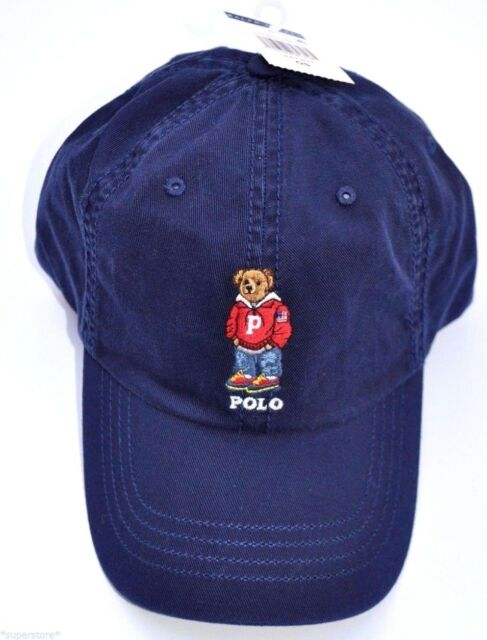 NWT POLO RALPH LAUREN Men Varsity Bear CAP Baseball Hat LIMITED Edition NAVY 8956b579bf79