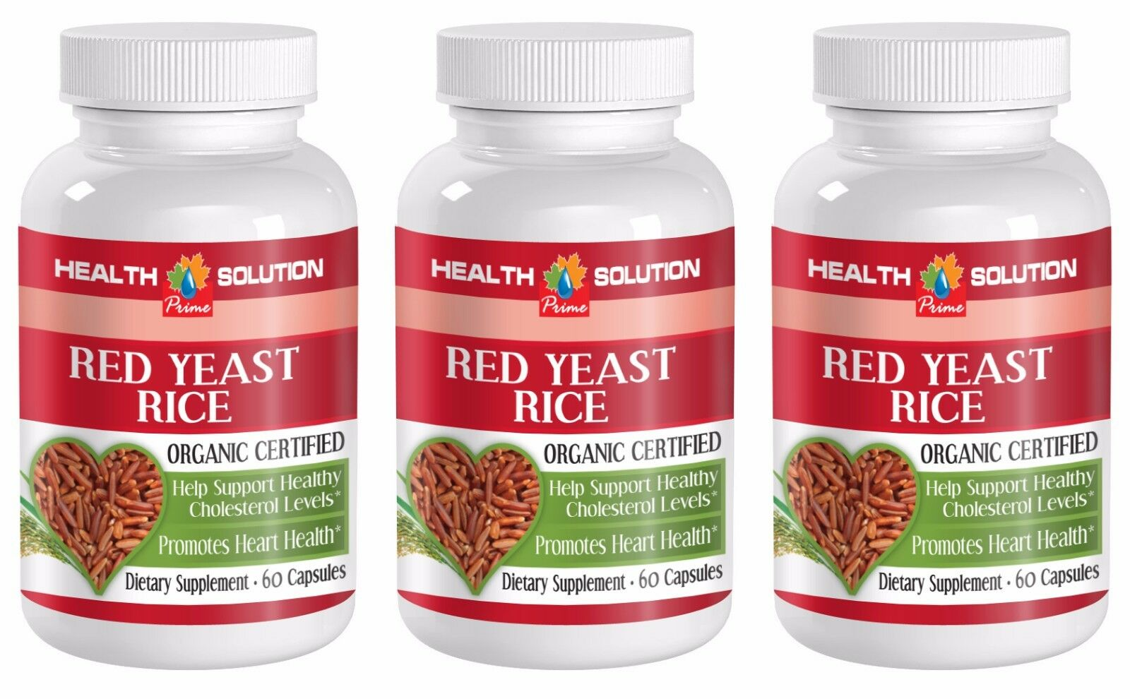 Blood pressure herbs - RED YEAST RICE 600MG 3B - red yeast powder for baking 1