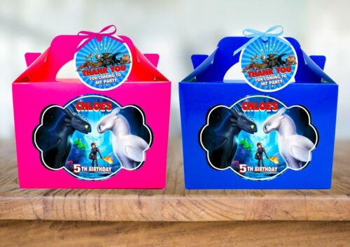 How To Train Your Dragon Personalised Birthday Party Favour Treat Sweets Box x1