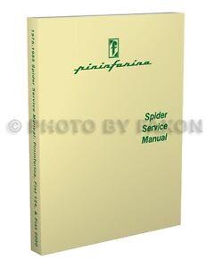 1984 1985 Fiat Pininfarina Azzurra Spider Shop Manual Repair Service Book Ebay