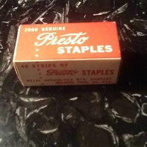 Staples-Unused-Vintage-Presto-Staples-2000-Genuine-No-165-Speedy-Sure