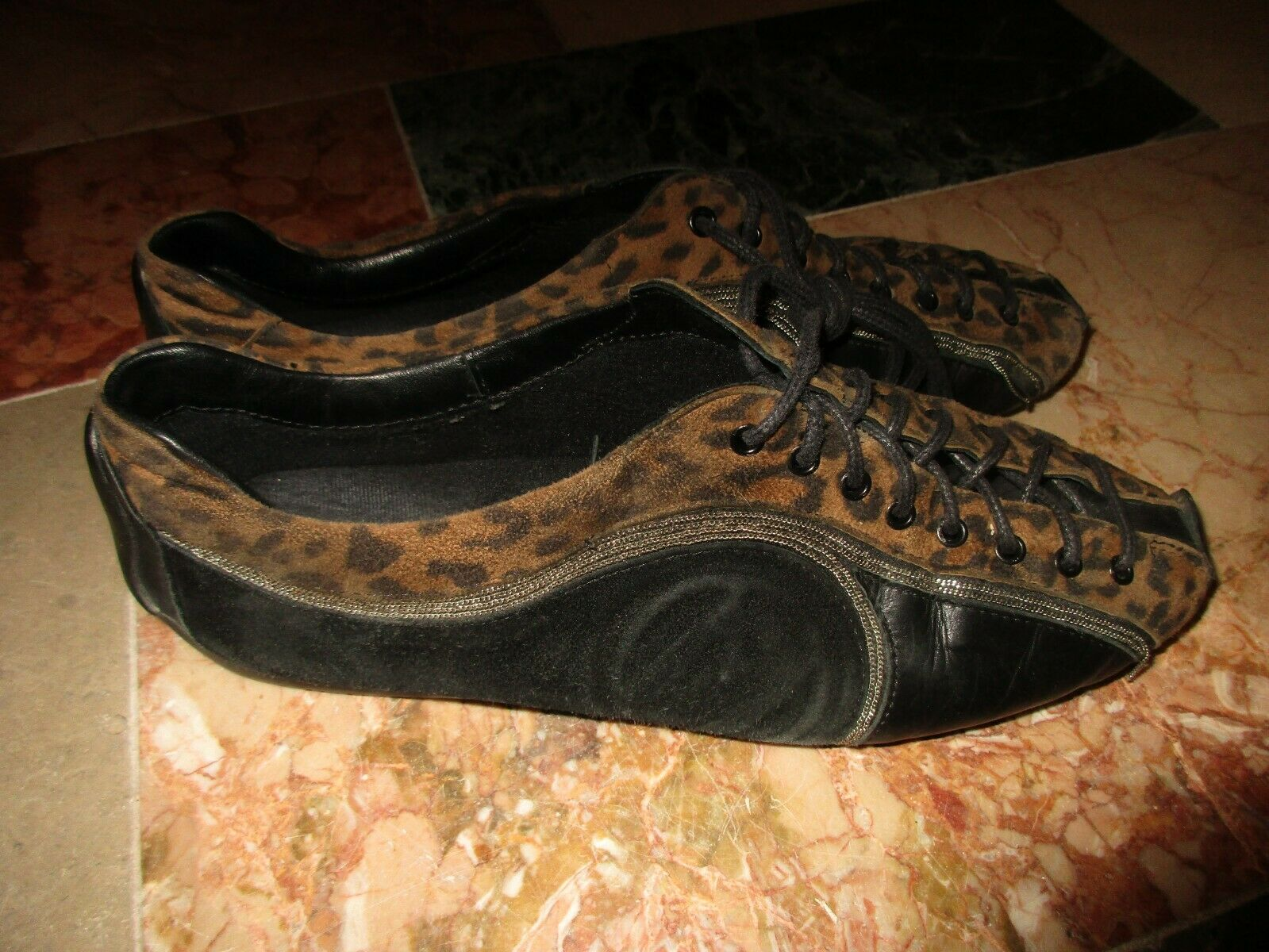 Tolle Mania Schuhe, Leopardo, Leder, Damen, Gr.39, MANIA, rotuziert