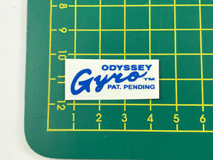 old school bmx decals stickers gen 1 odyssey gyro cup black clear