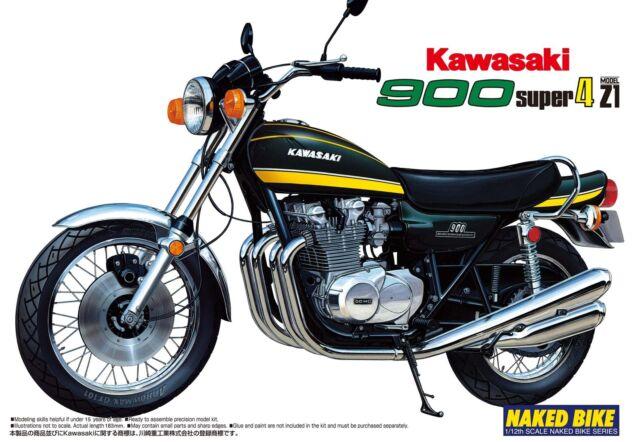 Aoshima Naked Bike 12 Kawasaki 900 Super 4 Z1 1/12 scale kit