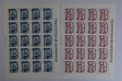 4 Kompl. Mw 52,- Cept Kann Wiederholt Umgeformt Werden. Liefern N6 Liechtenstein 692/693 Kleinbogensatz Postfr