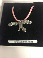 Archaeopteryx We-Fap Emblem on a pink Cord Necklace Handmade 41Cm