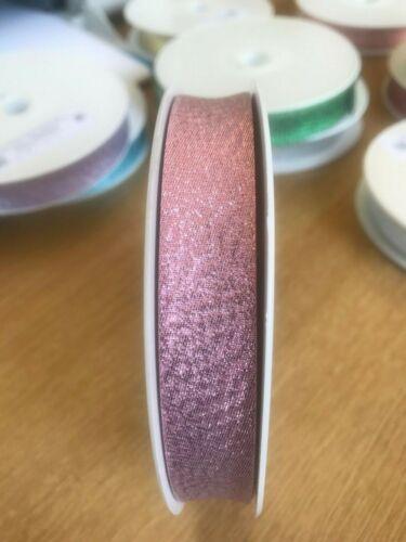 1 Meter of Metallic Sparkle Lurex Bias Binding Tape~20mm Wide~ Various Colours