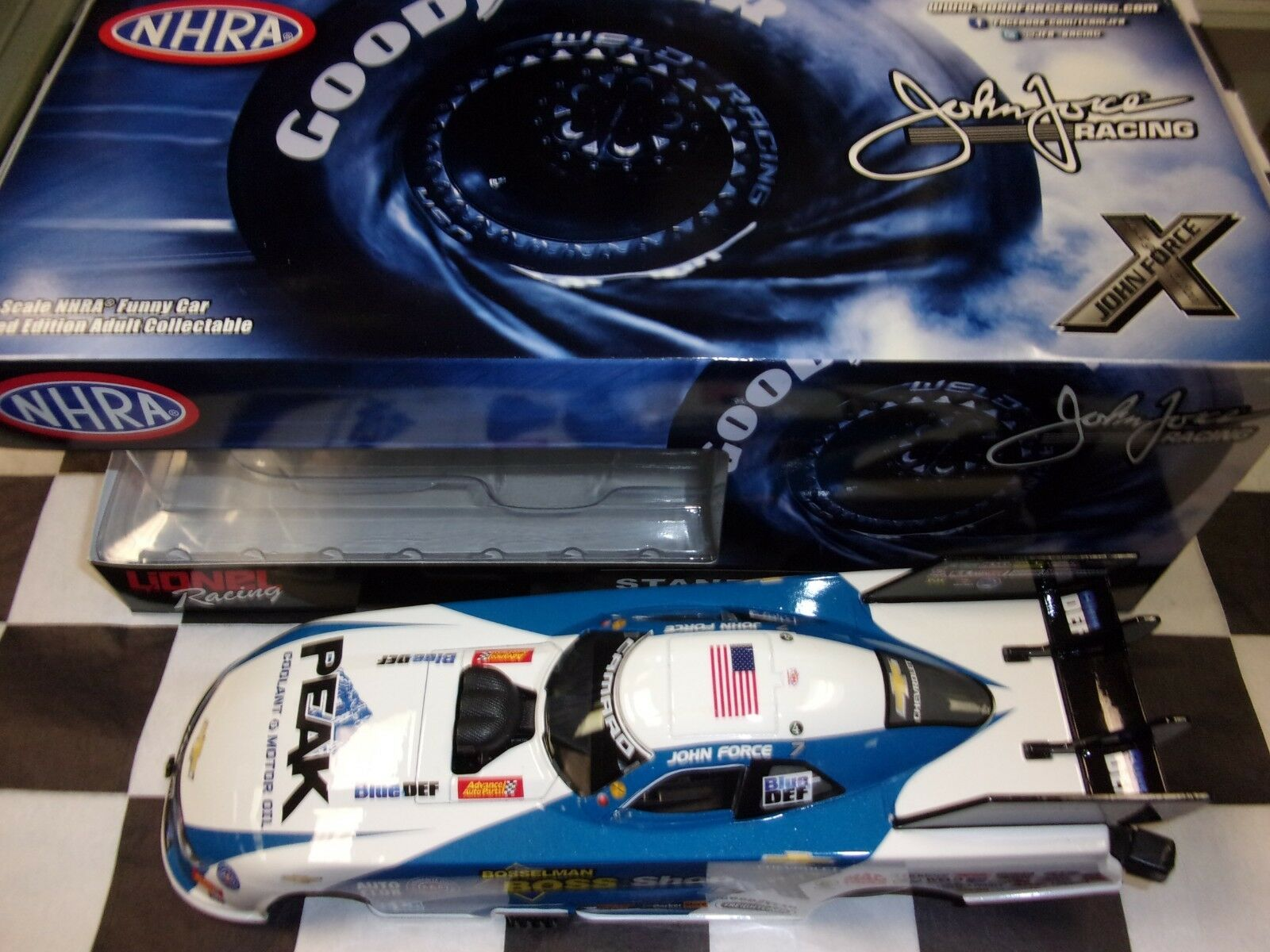 John Force Boss Shops 2018 Camaro Funny Car 1 24 scale car Action NHRA NIB