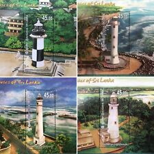 Sri Lanka 2018 stamps LightHouses Miniature Sheets 4   Leuchtturm  vuurtoren