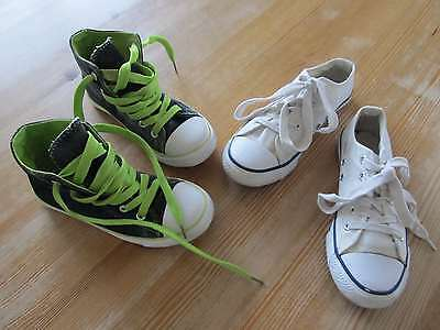 Schuhe Sneaker, für Frühling und Sommer, blau Gr. 33 und weiß Gr. 34