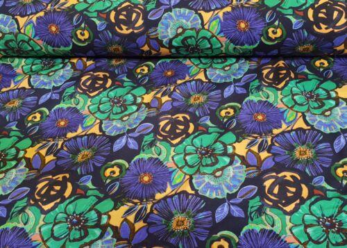 French Terry Tissu Digital Pression COTON ETE Sweat Motif Floral vêtements