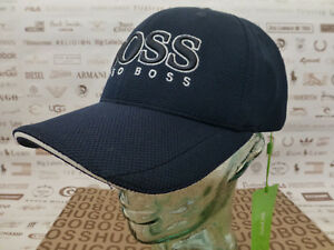 76724065e Details about HUGO BOSS GREEN Baseball Cap Mens PIQUE US Sports Hat Logo  Navy Caps BNWT R£50