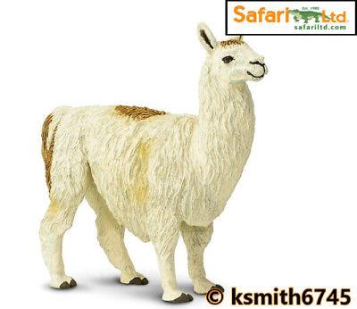 Safari LLAMA solid plastic toy wild zoo farm animal figure model NEW