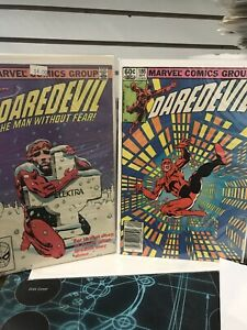 Daredevil-182-X-2-COPIES-F-AND-186-1-NM-ELEKTRA-LOT-OF-3