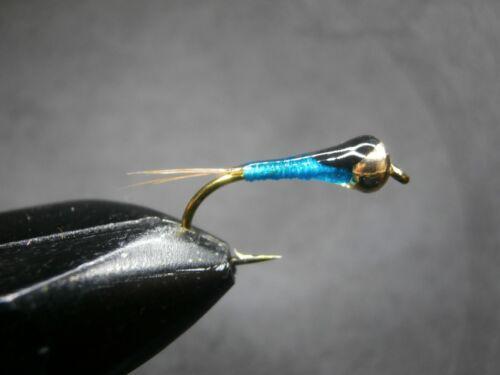 1 DOZEN  TUNGSTEN HEAD BLUE SPANISH NYMPHS FOR FLY FISHING-PER 171