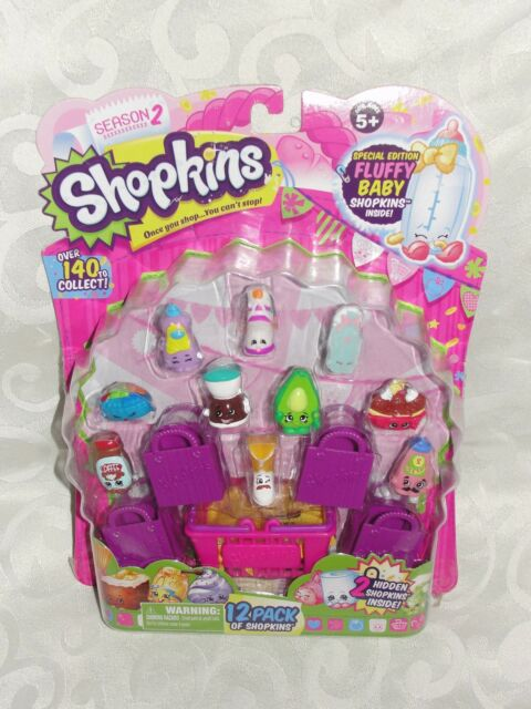 Shopkins Season 2 Fluffy Baby Special Pink Puffs with bag!!