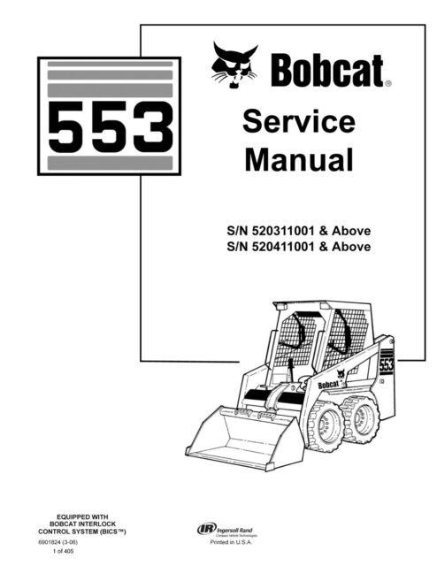 new bobcat 553 skid steer loader 1995 rev repair service manual rh ebay com bobcat 553 service manual pdf bobcat 553 service manual pdf