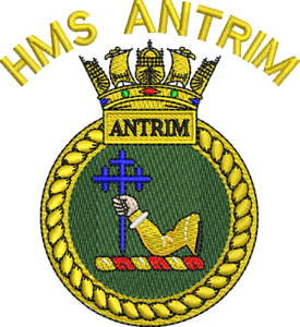 HMS Antrim Crested Embroidered Fleeces