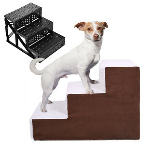 Dog-Pet-Stairs-Cat-Steps-Indoor-Ramp-Folding-Animal-Ladder-with-Cover
