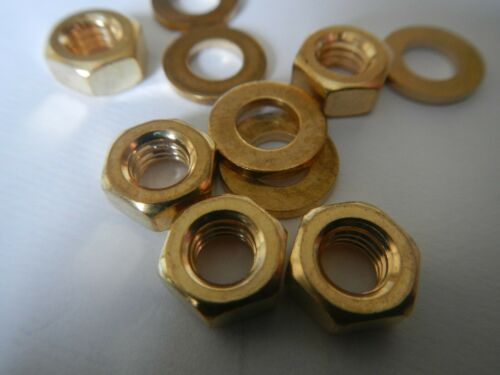 3mm 4mm 5mm 6mm 8mm 10mm BRASS THREADED BAR Rod Studding Studs nuts and washers