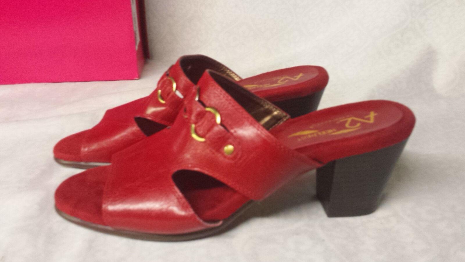 A2 by Aerosoles Women's  Base Board Slide Sandal Mule Size 7 Red