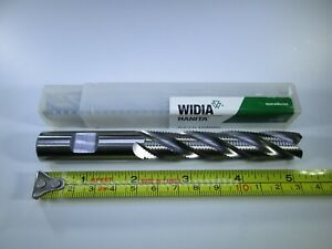 """NEW WIDIA HANITA 1/"""" INCH ROUGHING COBALT END MILL M42 LONG 5 FLUTE ROUGHER TOOL"""